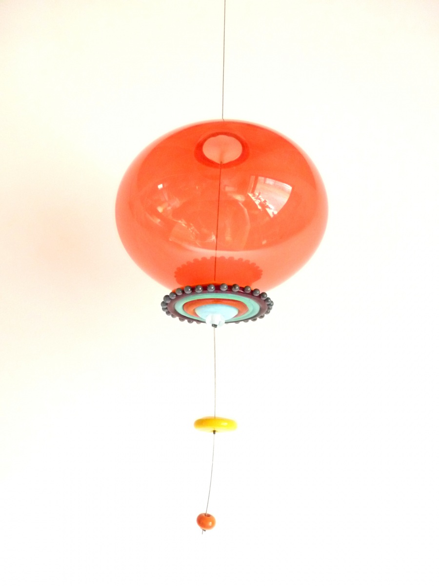 suspension bulle rouge