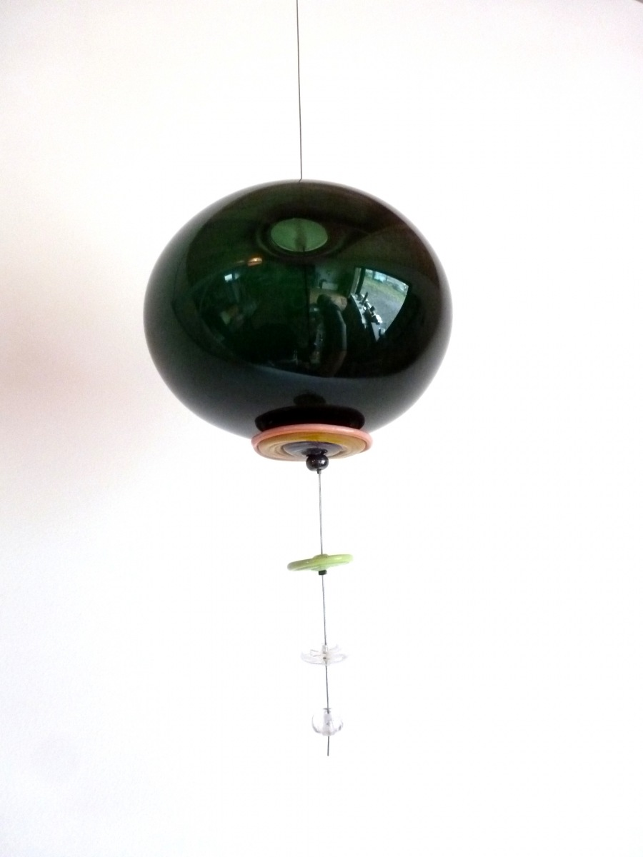 suspension bulle verte